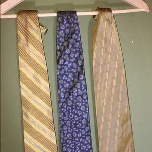 Donna Karan silk ties, made in Japan, choice of 3